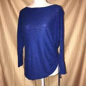 EXPRESS XS BLUE LOOSE FITTING BLOUSE